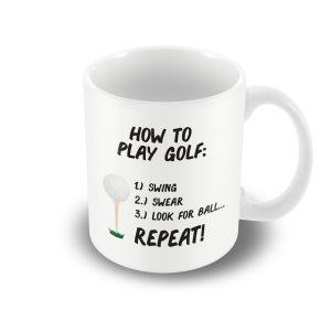 How to play golf… – Printed mug
