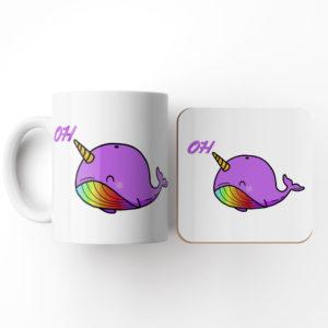Oh Whale-Mug and Coaster Set