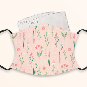 Flowers Pattern – Adult Face Masks – 2 Filters Included