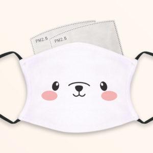 Cute Polar Bear – Adult Face Masks – 2 Filters Included