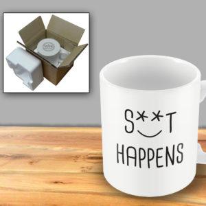S**t Happens – Printed Mug