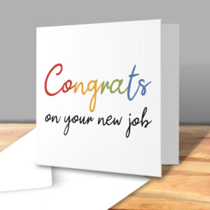 Congrats On Your New Job Rainbow – New Job Greetings Card