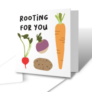 Rooting For You – Good Luck Congratulations Greetings Card