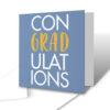 Con-GRAD-ulations Blue Graduation Greetings Card