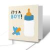 It's A Boy! Milk Bottle Dummy New Baby Card