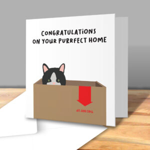 Purrfect New Home – New Home Greetings Card