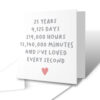 I've Loved Every Second 25 Years Anniversary Greetings Card