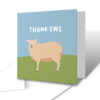 Thank Ewe Thank You Greetings Card