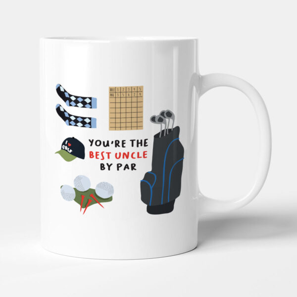 You're The Best Uncle By Par Family Golf Gift Mug