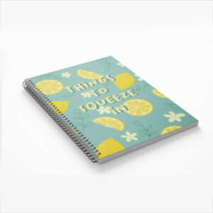 Things to squeeze in lemon illustrated planner notebook