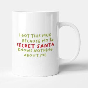 Secret Santa Doesn't Know Me Christmas Gift Mug