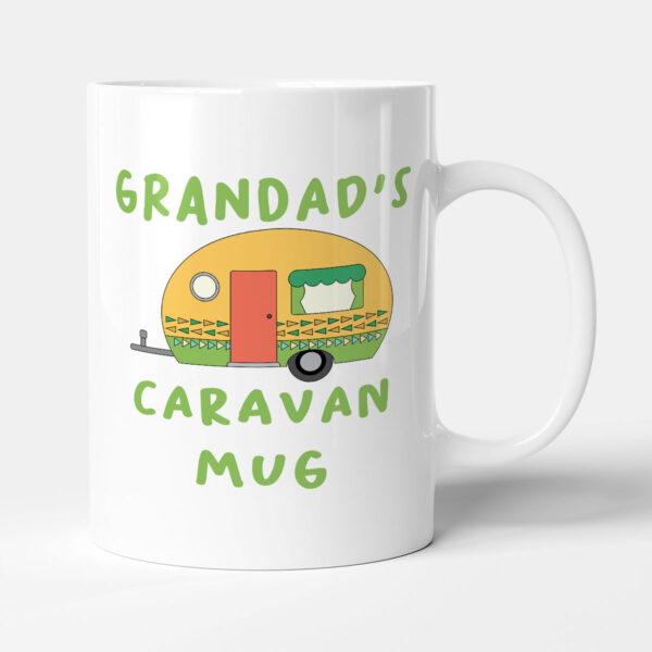 Grandad's Caravan Mug - Green Camper Birthday Gift Mug
