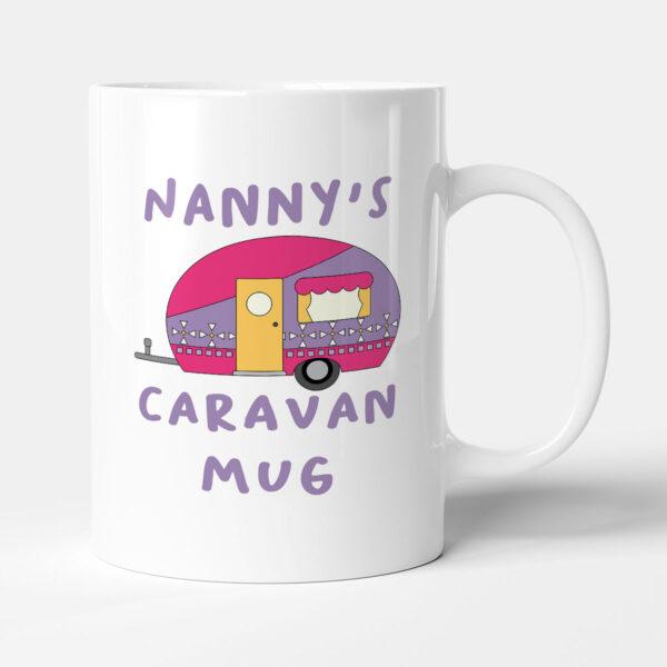 Nanny's Caravan Mug - Purple Camper Birthday Gift Mug