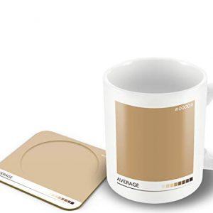 Average' – Tea Colour Scale – Mug & Coaster