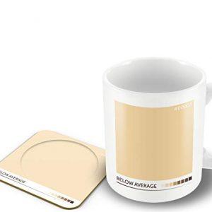 Below Average' – Tea Colour Scale – Mug & Coaster