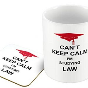 Can't Keep Calm I'm Studying Law – Mug and Coaster Set