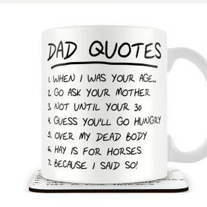 Dad Quotes – Mug and Coaster Set