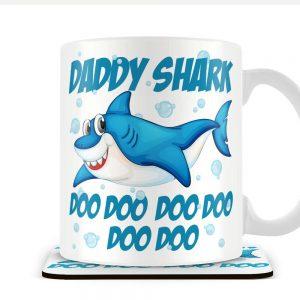 Daddy Shark – Mug and Coaster Set