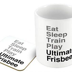 Eat Sleep Train Play Ultimate Frisbee – Mug and Coaster Set