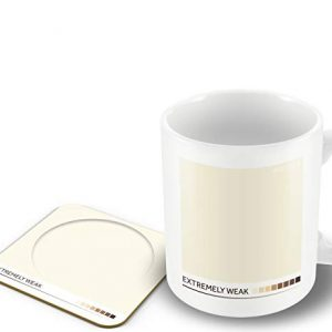 'Extremely weak' – Tea Colour Scale – Mug & Coaster