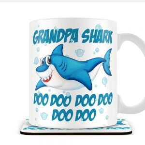 Grandpa Shark – Mug and Coaster Set