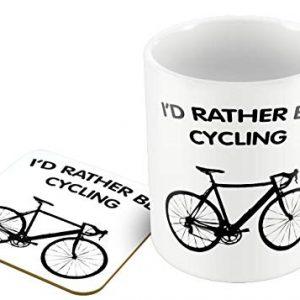 Humorous Mug and CoasterI'd Rather be Cycling – Mug and Coaster Set