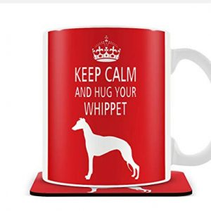 Keep Calm and Hug Your Whippet – Mug & Coaster