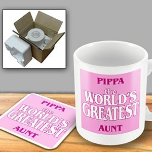Pippa The World's Greatest Aunt & Coaster – Mug & Coaster