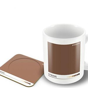 Strong' – Tea Colour Scale – Mug & Coaster