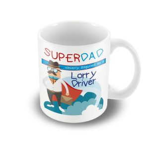 SuperDad Cleverly disguised as a Lorry Driver mug – Fathers Day Mug