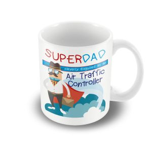 SuperDad Cleverly disguised as an Air Traffic Controller mug – Fathers Day Mug