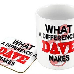 What A Difference A Dave Makes for Dave's and thos – Mug and Coaster Set