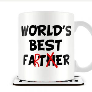 World's Best Father (Farter) – Mug and Coaster Set