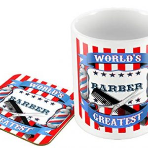 World's Greatest Barber – Mug and Coaster Set