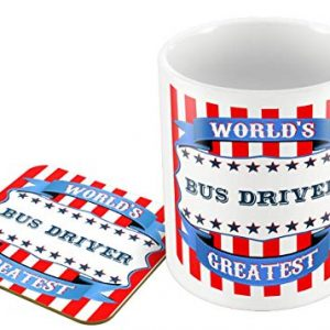 World's Greatest Bus Driver – Mug and Coaster Set