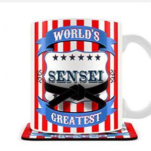 World's Greatest Sensei – Mug & Coaster