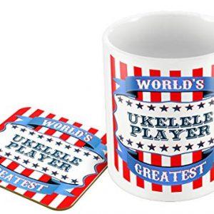 World's Greatest Ukulele Player – Mug and Coaster Set